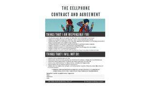 graphic regarding Printable Cell Phone Contract for Tweens identified as Mobile Cell phone Regulations + Free of charge Printable Mobile Mobile phone Deal Arrangement